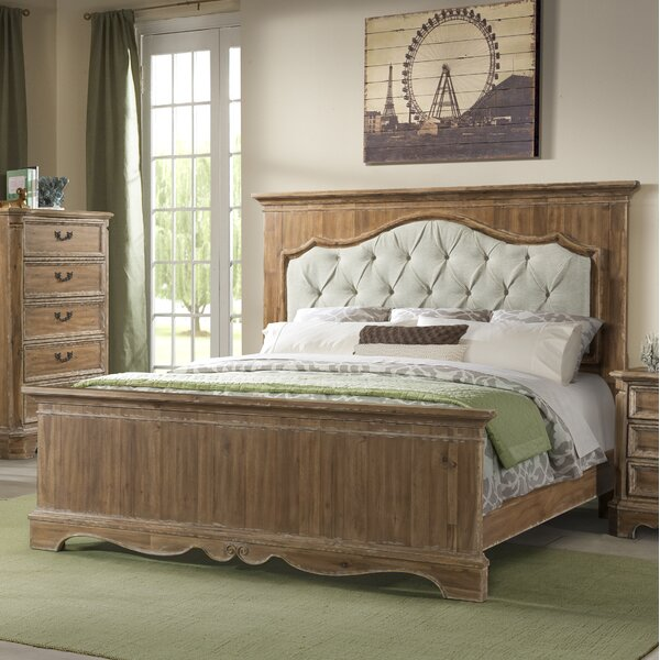 Elena Upholstered Panel Bed by Ophelia & Co.