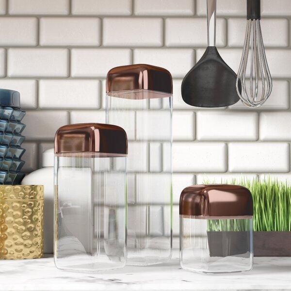 Trillium 3 Piece Storage Jar Set by Mint Pantry