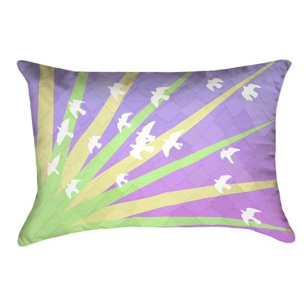 Enciso Birds and Sun Rectangular Pillow Cover by Brayden Studio