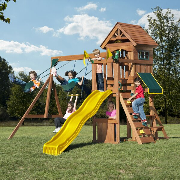 Jamboree Fort Play Swing Set by Swing-n-Slide