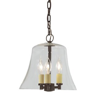 Read Reviews Greenwich 3-Light Outdoor Pendant By JVI Designs