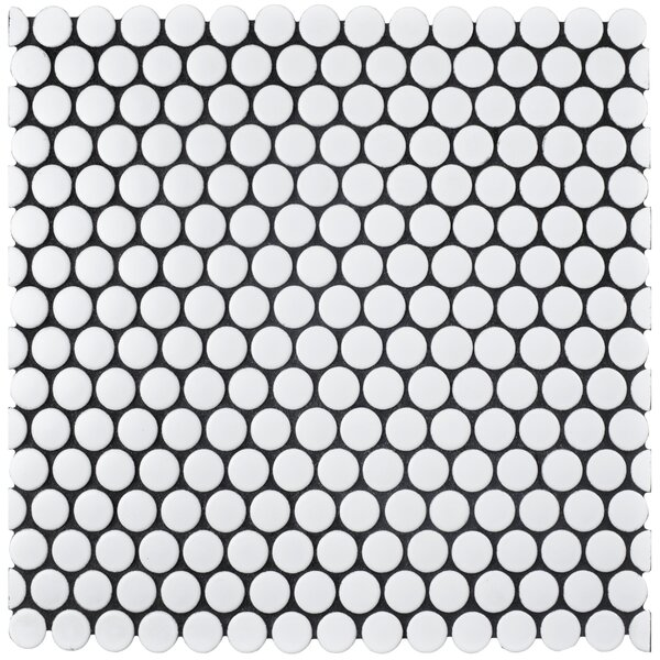Retro 0.75 x 0.75 Porcelain Mosaic Tile in Matte W