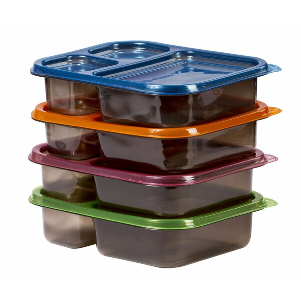 Meal Prep 4 Container Food Storage Set by Rebrilliant