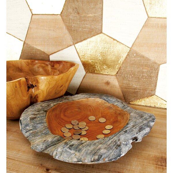 Teak Decorative Bowl by Cole & Grey