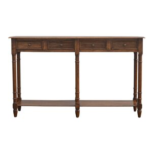 Colesberry Hallway 4 Drawer Console Table with Turned Feet by Darby Home Co