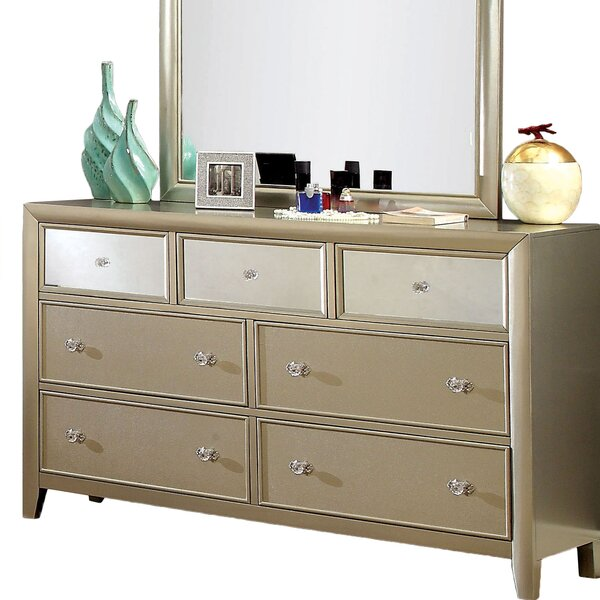 Herve 7 Drawer Dresser with Mirror by Willa Arlo Interiors