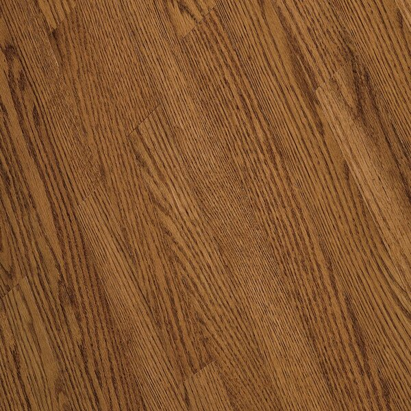 Fulton 2-1/4 Solid Red / White Oak Hardwood Flooring in High Glossy Gunstock by Bruce Flooring