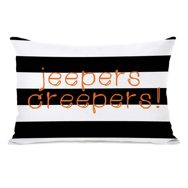 Jeepers Creepers Stripes Lumbar Pillow by One Bella Casa