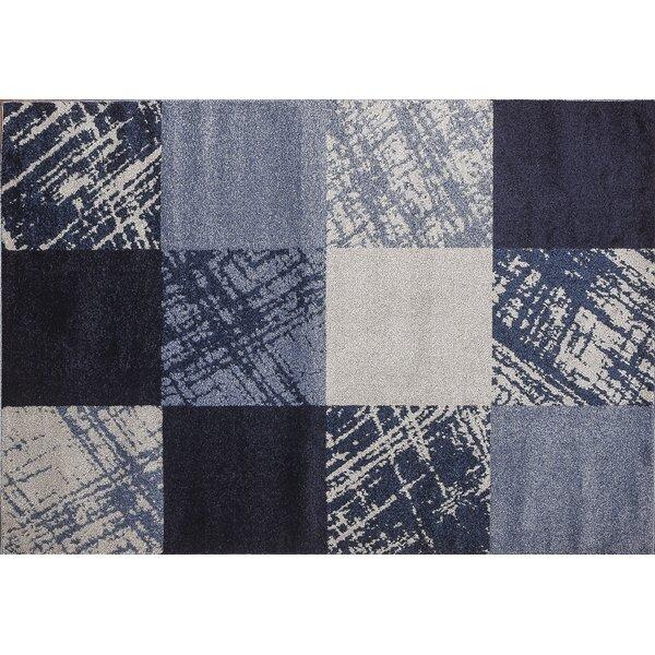 Harworth Blue/Beige Area Rug by Ebern Designs
