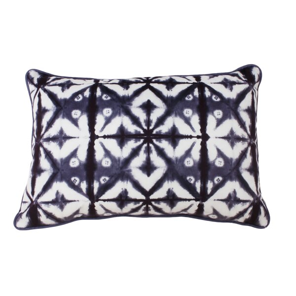 Petrick Shibori Printed Lumbar Pillow by Bungalow Rose
