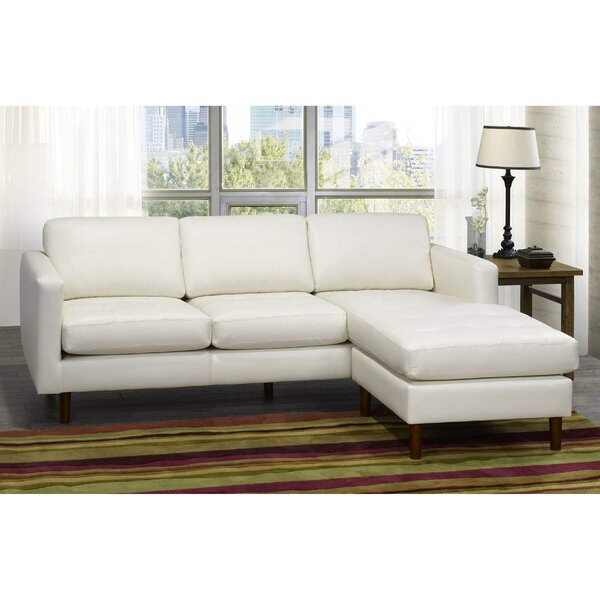 Dollie Leather Sectional by Brayden Studio