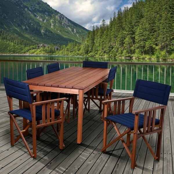 Foss Patio 7 Piece Dining Set by Beachcrest Home