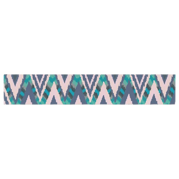 Nika Martinez Tribal Ikat Pattern Table Runner by East Urban Home