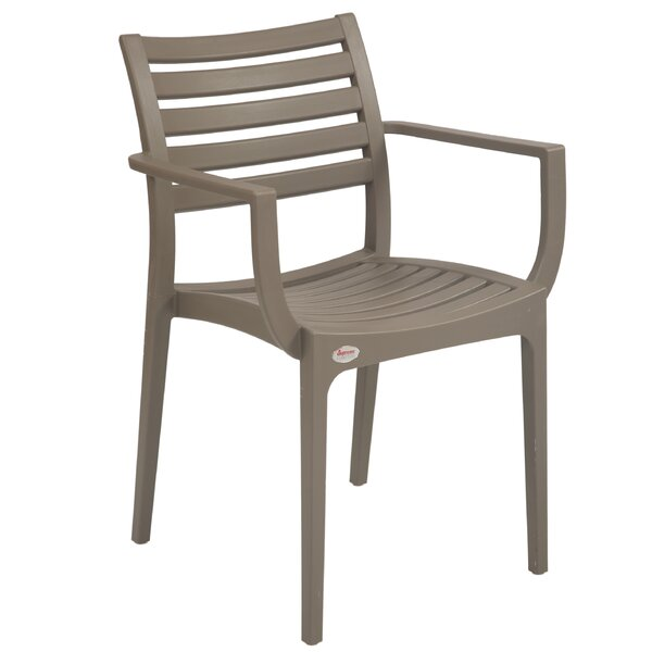 Kahwajian Stacking Patio Dining Chair (Set of 2) by Ebern Designs Ebern Designs