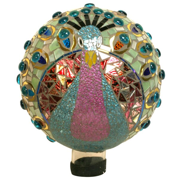 Neff Peacock Mosaic Gazing Globe by World Menagerie