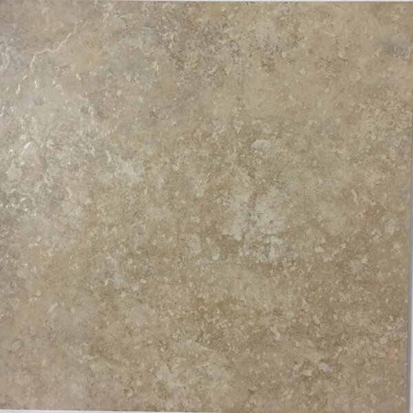 Cristallo Milan 13 x 13 Procelain Field Tile in Taupe by Kellani