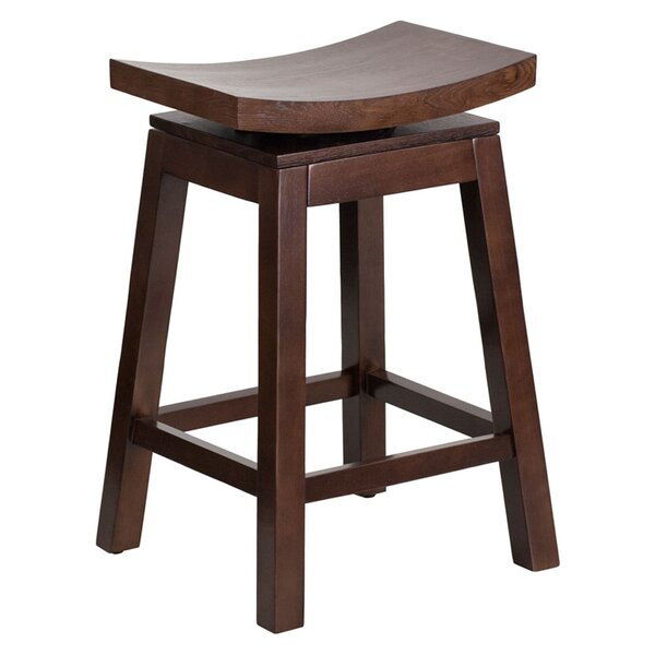 Friso High Saddle 26.25 Swivel Bar Stool by Darby Home Co