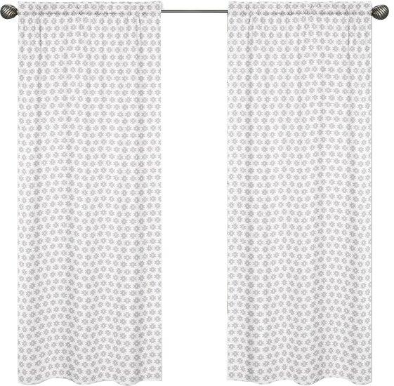 Feather Tribal Print Geometric Rod Pocket Curtain Panels (Set of 2) by Sweet Jojo Designs
