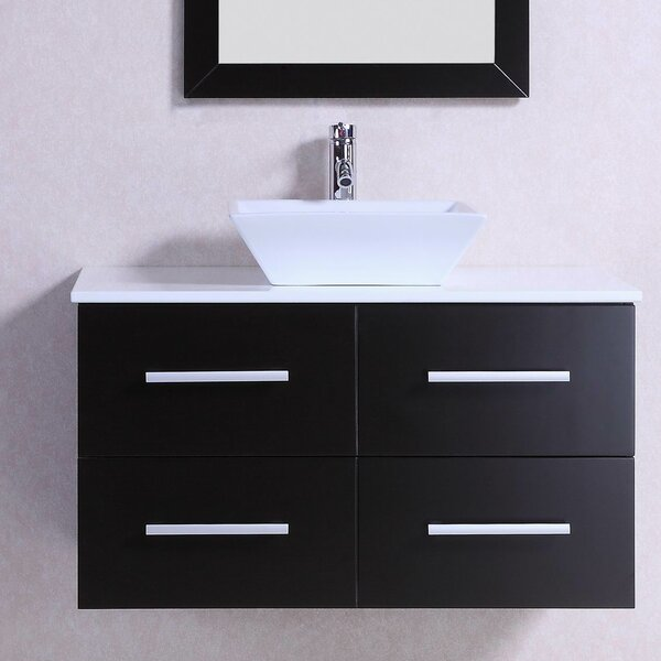 Modern Wall Mounted 36 Single Bathroom Vanity Set by Belvedere Bath