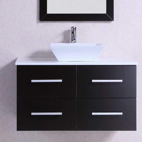 Modern Wall Mounted 36 Single Bathroom Vanity Set by Belvedere Bath
