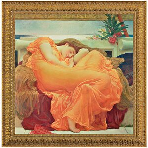 Flaming June, 1895 by Lord Frederic Leighton Framed Painting Print by Design Toscano