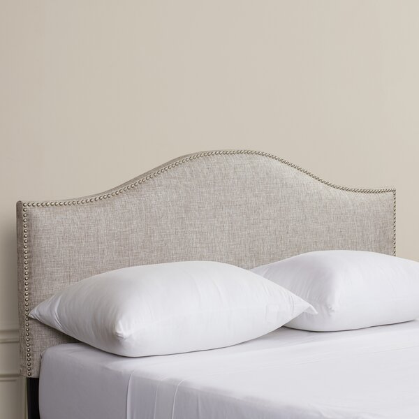 Aubuchon Nail Button Upholstered Panel Headboard by House of Hampton