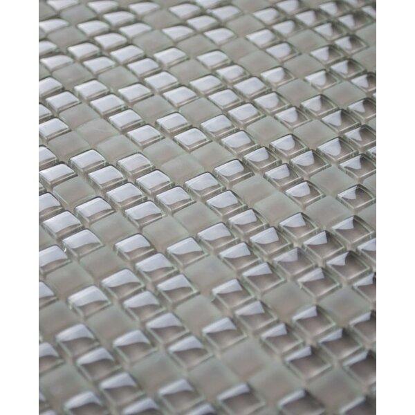Micron 0.38 x 0.38Glass Mosaic Tile in Mocha by Madrid Ceramics