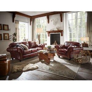 Couchgarnitur Bolton aus Echtleder von Massivum