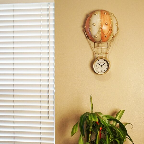 Kanagy Quaint Hot Air Up Balloon Wall Clock by Charlton Home