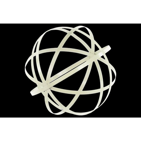 Heeter Orb Dyson Sphere Design Metal Sculpture with 5 Circles by Brayden Studio
