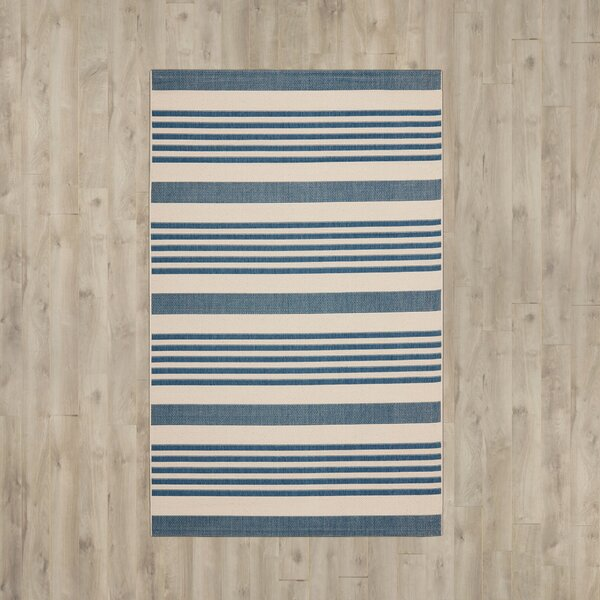 Higgs Blue/Beige Indoor/Outdoor Area Rug by Beachcrest Home