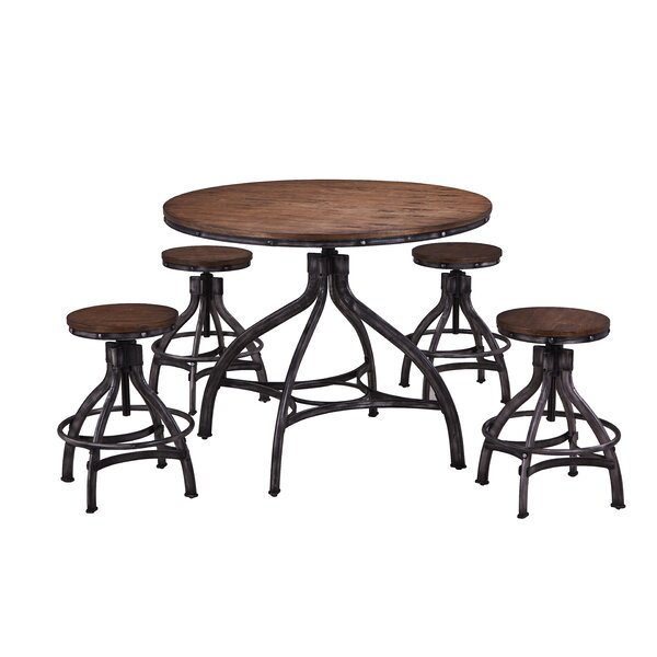 Wellman 5 Piece Adjustable Pub Table Set by Williston Forge