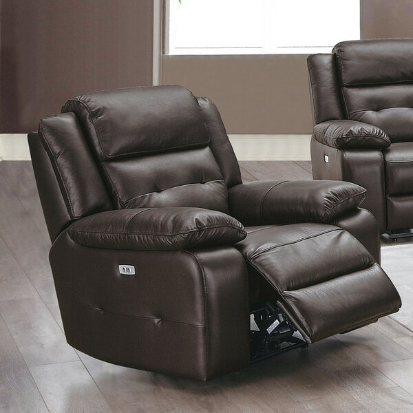 Celise Genuine Leather Power Recliner W002398718