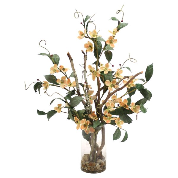 Waterlook with Flowering Branch in Decorative \Vase by Distinctive Designs