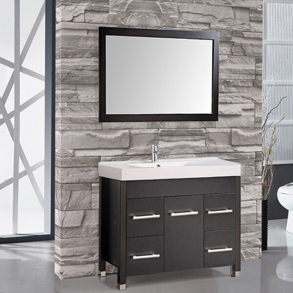 Prager 36 Single Sink Bathroom Vanity Set with Mirror by Orren Ellis