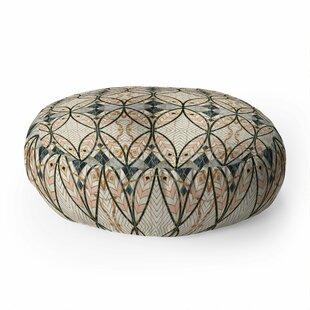 Marta Barragan Camarasa Pattern Mosaic Art Deco Round Floor Pillow
