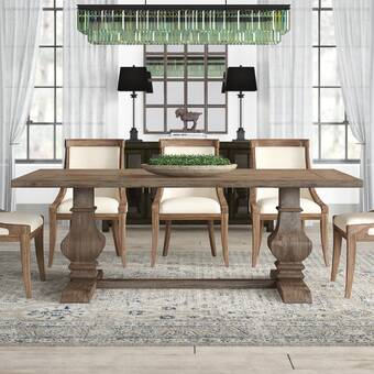 Union Rustic Britton Extension Solid Wood Dining Table Wayfair Ca