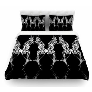 Wings By Maria Bazarova Art Deco Abstract Featherweight Duvet Cover