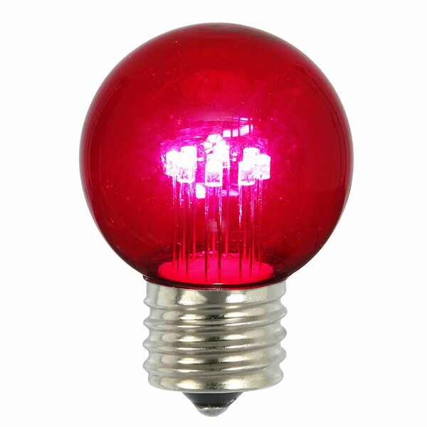9W Pink E26 LED Light Bulb (Pack of 5) (Set of 5) by Vickerman
