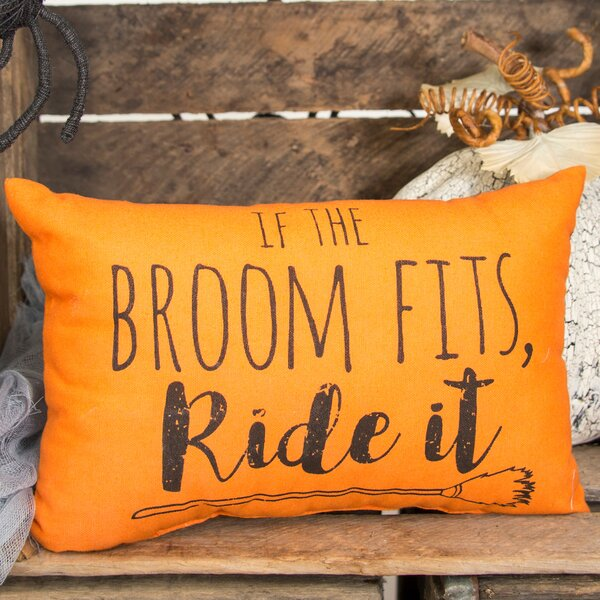 If the Broom Fits Halloween Lumbar Pillow by C&F Home