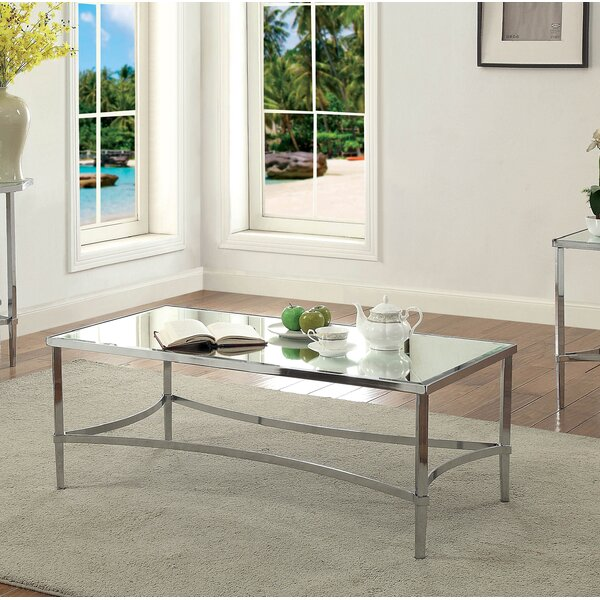 Nobhill Mirrored Coffee Table by Orren Ellis