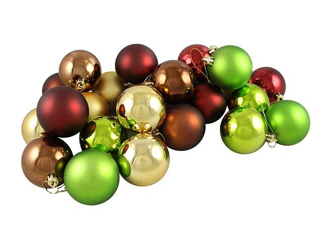 24 Piece Shatterproof Christmas Ball Ornament Set - The Holiday Aisle 24 Piece Shatterproof Christmas Ball Ornament Set