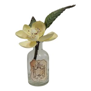 Faux Magnolia in Chic Glass Vase