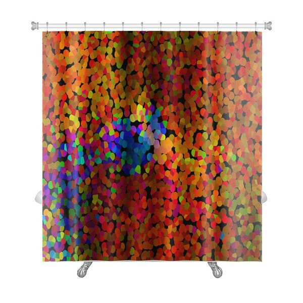 Art Alpha Abstract Blurred Effect, Bright Colors Rainbow Gradient Premium Shower Curtain by Gear New
