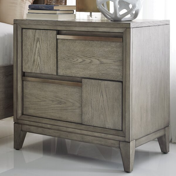Ehrhardt Wood 2 Drawer Nightstand by Brayden Studio
