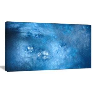 'Blur Clear Blue Sky with Stars' Graphic Art on Wrapped Canvas by Design Art