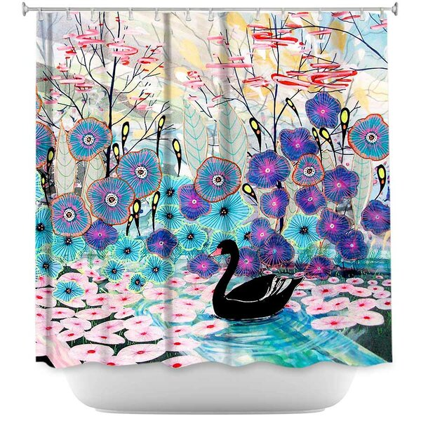 Swan Shower Curtain by East Urban Home