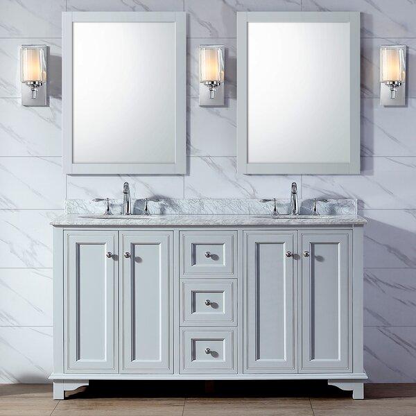 Plemons 60 Double Bathroom Vanity Set by Charlton Home