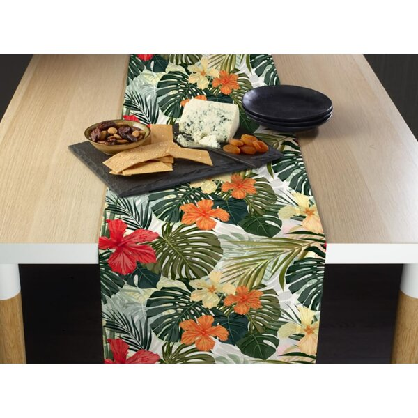 Stephenson Hibiscus Garden Milliken Signature Table Runner by Bay Isle Home