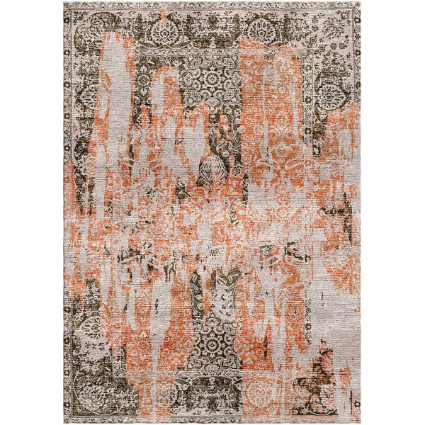 Aliza Handloom Rust/Brown Area Rug by Bungalow Rose